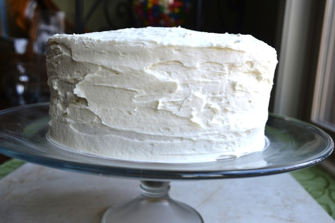 White Almond Cake | stuckonsweet.com