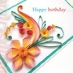 happy birthday quilling cards