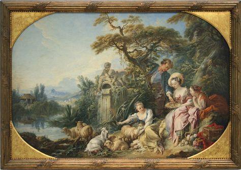 François Boucher, Le Nid, dit aussi Le Présent du berger Huile sur toile, 110 x 158 cm, Louvre-Lens