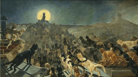 L'Apothéose des Chats à Montmartre Théophile-Alexandre Steinlen - 1905 Musée de Montmartre (Cette toile monumentale se trouvait initialement au Chat Noir, ancien célèbre cabaret parisien.)