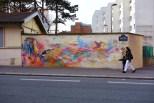 C215, Titre inconnu Street art, 2011 Ecole Dorée, boulevard Vincent Auriol Paris 13e (75)