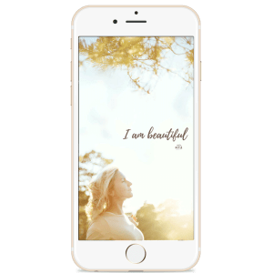 I am beautiful Phone Wallpaper by Studio Metsä