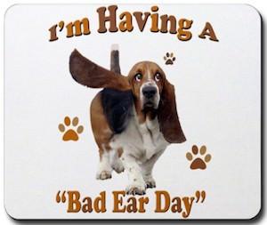 Bad ear day doggy mousepad