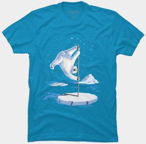 Polar Bear Pole Dancing T-Shirt