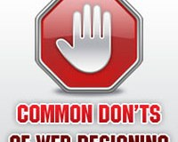 Common Don'ts of Web Designing
