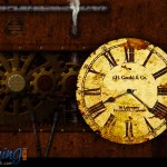 Antique Clocks on Rusty and Grungy Backgrounds