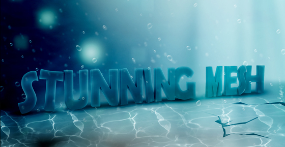 Stunningmesh - Photoshop Tutorial Underwater 3D Text Effect