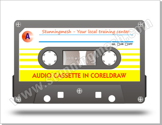 Vectorial Audio Cassette in Corel Draw
