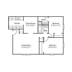 Small Crop Of 2 Bedroom Floor Plans