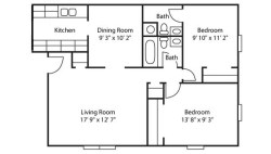 Small Of 2 Bedroom Floor Plans