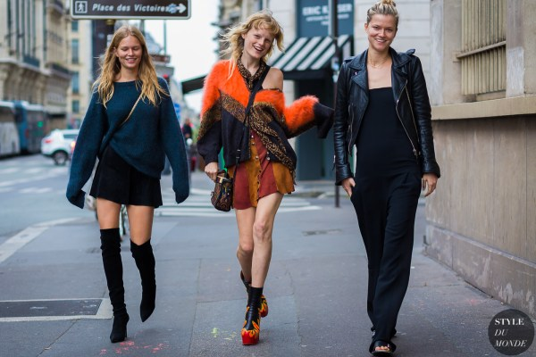 Haute Couture Fall 2016 Street Style: Anna Ewers, Hanne Gaby Odiele and Kasia Struss