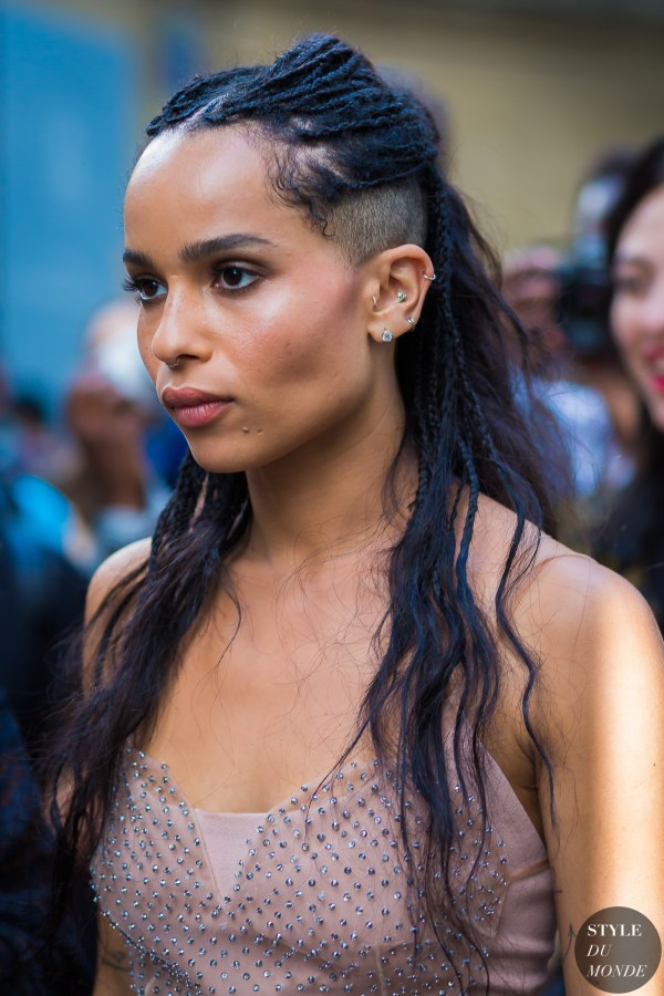 Haute Couture Fall 2016 Street Style: Zoe Kravitz