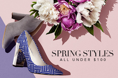 spring style shoes under $100
