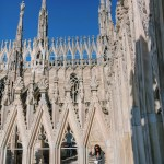 terrazza duomo milano fashion girl instagram blogger milan