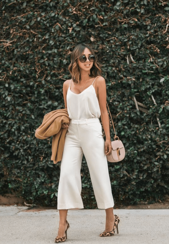 camisole with culotte dress pants
