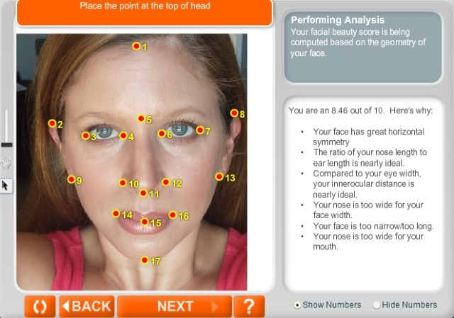 anaface facial beauty analysis anaface score