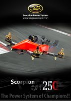Scorpion QF1 – designing a new championship of 250 class racing quad copter