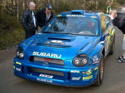 Subaru WRX at the WRC in 2001 - Photo Pasi Piesanen