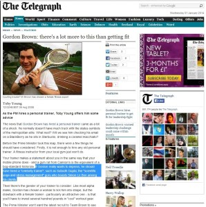 Subodh Gupta Yoga Instructor in Telegraph uk in reference to the UK prime minister