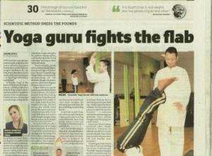 Subodh Gupta Celebrity Yoga Instructor/Guru featured in London Paper