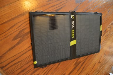 The Nomad 20 is a portable 20w solar panel