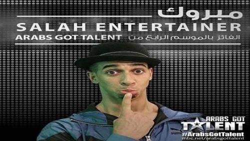المغربي صلاح يفوز بلقب Arabs Got Talent