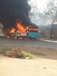 وفاة سائق البص وشاب استبسل من أجل الأخرين في حادث التانكر المحترق