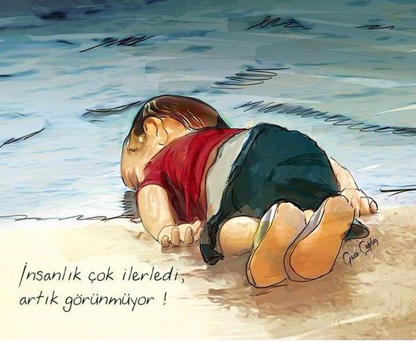 بالصورة : بنفس الملابس والكلمات الأخيرة للطفل الشهيد ايلان الكردي قبل وفاته بلحظات