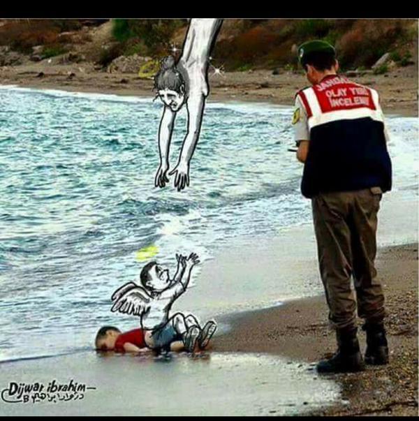 الجندي التركي الذي حمل جثة أيلان: تخيلت ابني مكانه