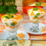 Mint yogurt with oranges