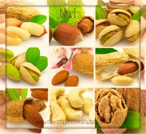 Collage from tasty nuts