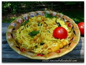Chickpea Mint Lemon Rice Salad