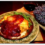 Ginger Roast Chicken with Red Wine Plum Sauce