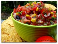 High Fiber Black Bean & Corn Chipotle Salsa