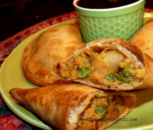 Samosas Stuffed With Sweet Potatoes & Peas