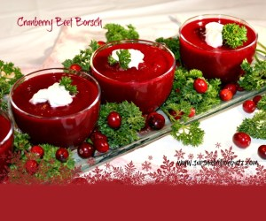 Roasted Cranberry Beet Borscht