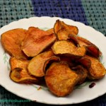 Sweet Potato Chips with Cayenne & Garlic Salt