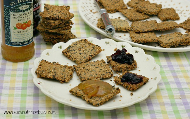grain free sesame crackers