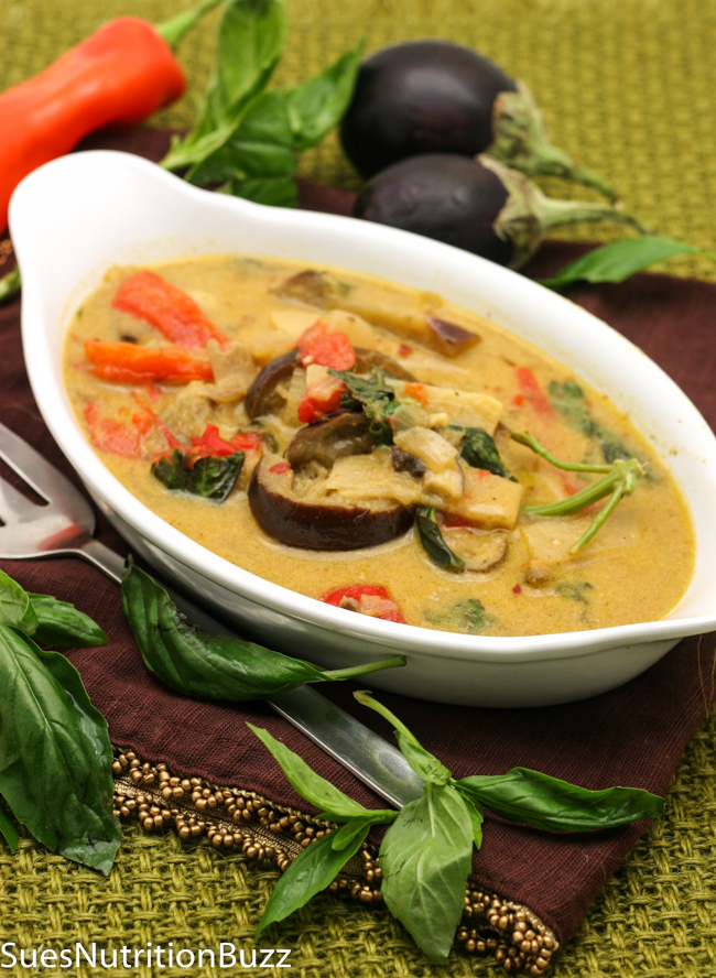 Thai Red Curry With Grilled Eggplant & Fresh Herbs