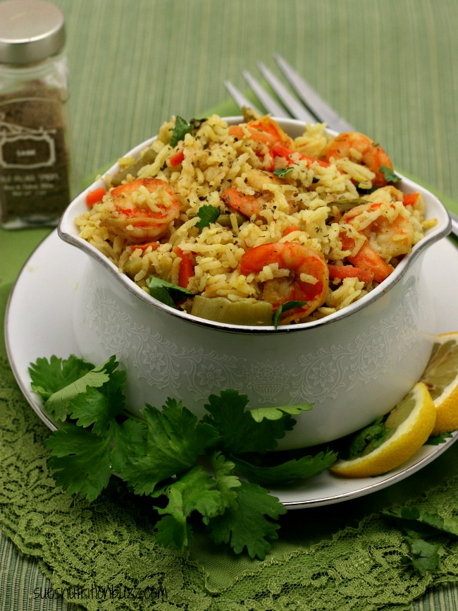 shrimp coconut rice pilaf