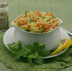 Coconut Shrimp Pilaf