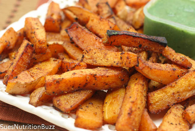 Sweet N Spicy Chipotle Squash Fries ! Baked Chipotle Squash Fries