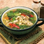 Tuscan Chicken Soup with Roasted peppers