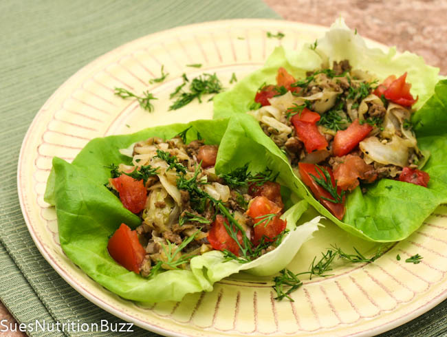 Turkey cabbage lettuce wraps-2