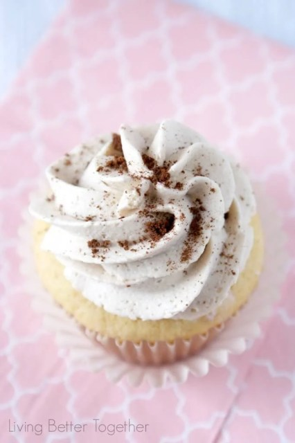 French Vanilla Cappuccino Cupcakes - light and fluffy cupcakes topped with a sweet french vanilla cappuccino buttercream that is out of this world!