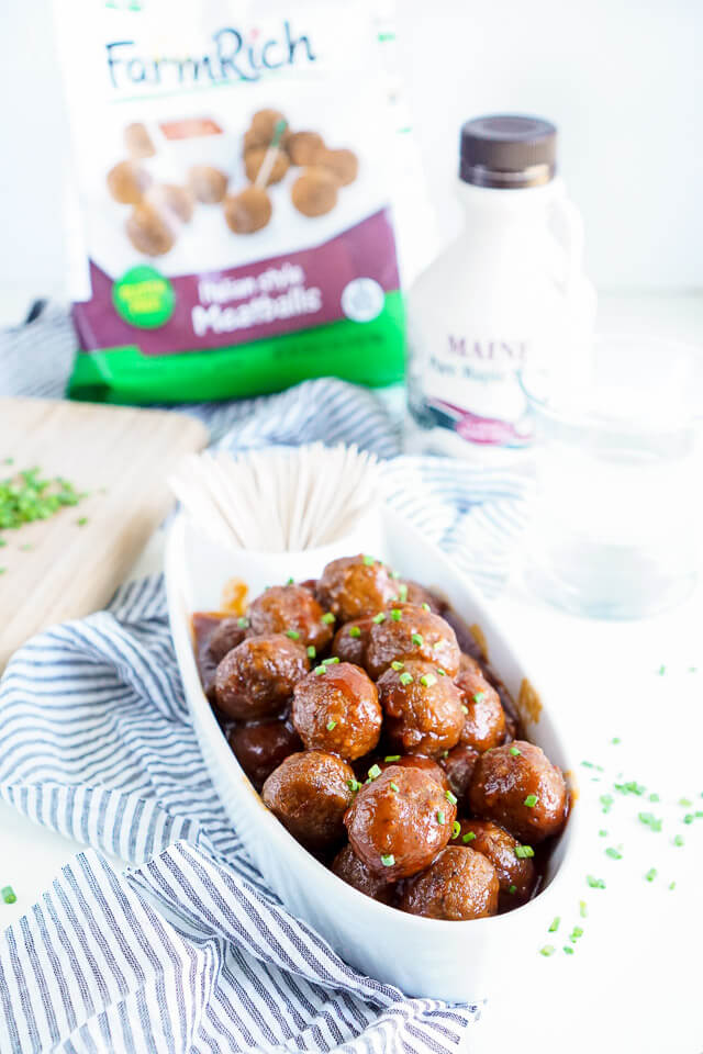 Maple Chili Meatballs combine sweet and heat for the ultimate game day ...