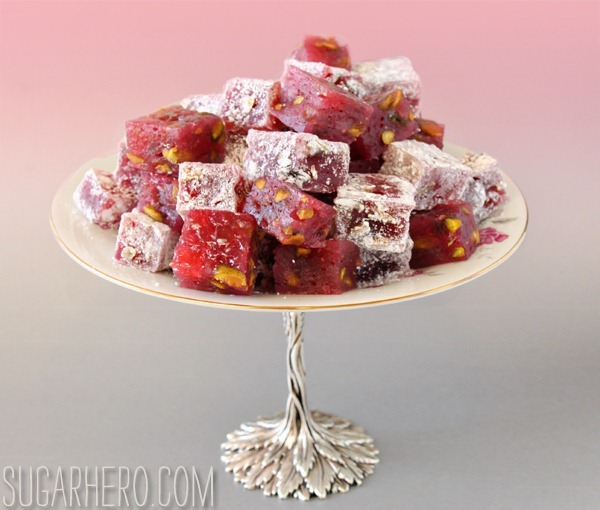 Raspberry-Pistachio Turkish Delight | SugarHero.com