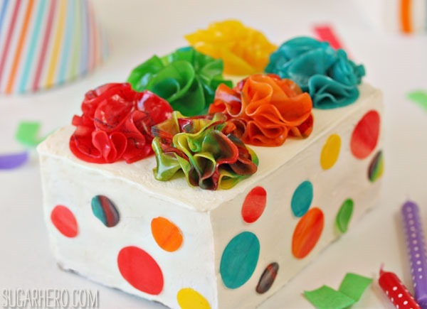 Birthday Present Mini Cakes | SugarHero.com