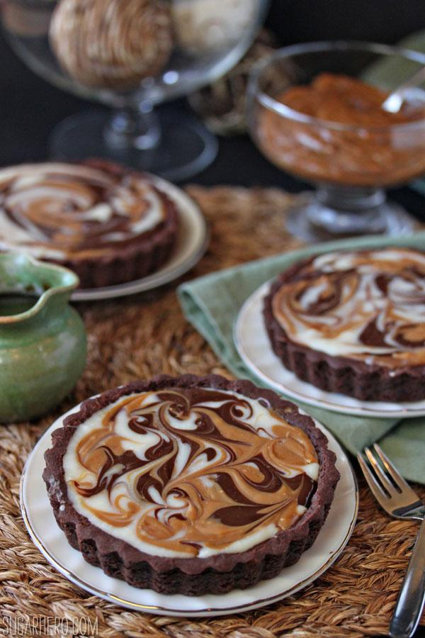 Dulce de Leche Swirl Tart | SugarHero.com