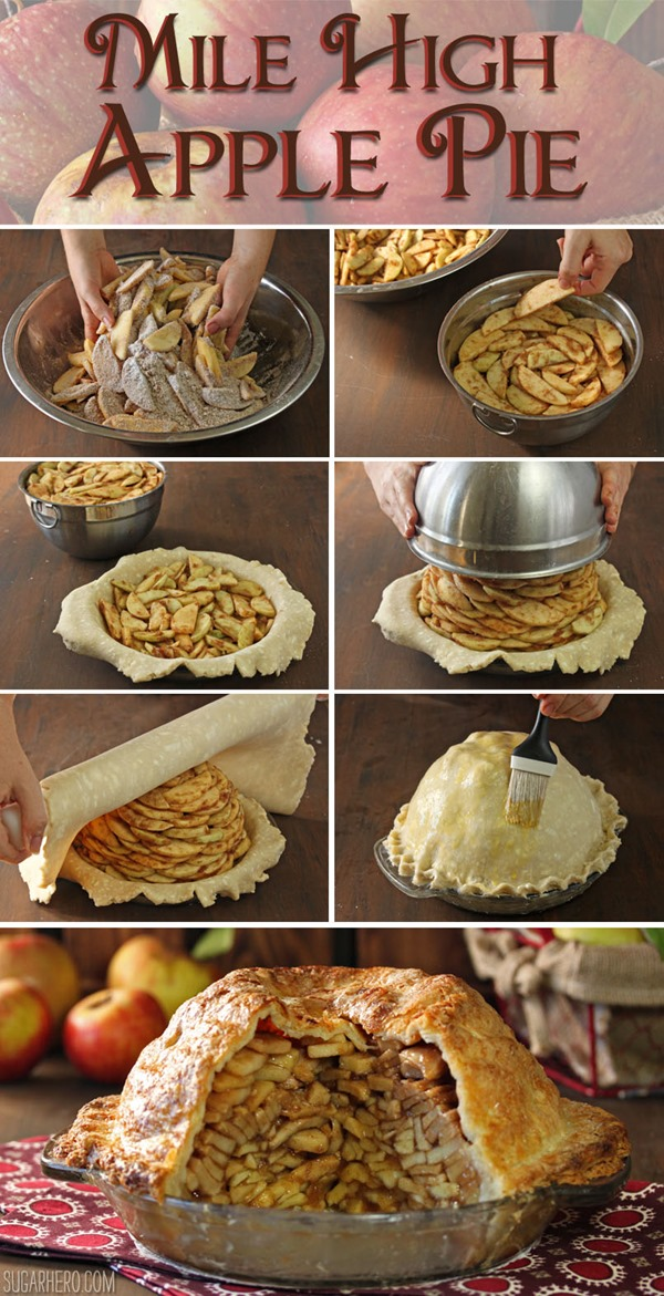 How to Make Mile High Apple Pie | From SugarHero.com